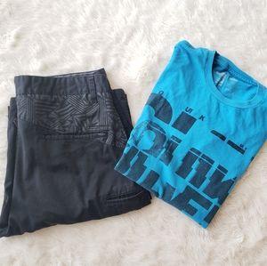 🎉Mens Lot Volcom shorts 32 quicksilver shirt med